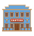 Wild West cantina vector image vector image