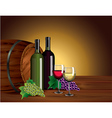 wine barrel background vector image vector image