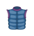 Winter quilted waistcoat icon cartoon style vector image vector image