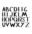 alphabet letters under the classical bias vector image