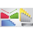 set of histograms vector image