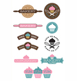 Set of 10 bakery and cupcake designs vector image