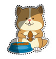 cute hamster mascot icon vector image
