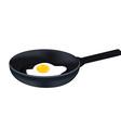 Egg on pan vector image