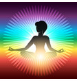 yoga meditation emblem vector image