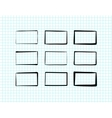 Hand-drawn rectangles and text boxes vector image
