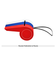 A Whistle of The Russian Federation Flag vector image