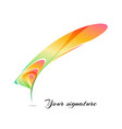 abstract colorful stylized feather vector image vector image