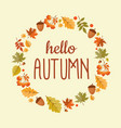 abstract hello autumn background with falling vector image