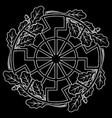 ancient european esoteric sign - black sun vector image