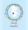 angel wreath vector image vector image