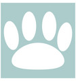 animal footprint the white color icon vector image vector image