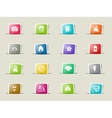 Beach simply icons vector image vector image