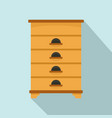 bee house icon flat style vector image