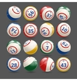 big set lottery bingo balls vector image vector image