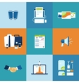 Business process icons set vector image