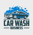 car wash business ready made logo vector image vector image