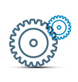 Cogs - Gears Outline Technology Icons Isolated on vector image vector image