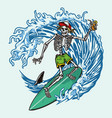 colorful vintage surfing concept vector image