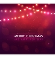 Colourful Glowing Christmas Lights vector image vector image
