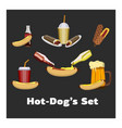 concept of national hot dog day vector image vector image