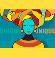 conceptual fashionable female ethnic portrait vector image vector image