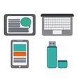 Digital Marketing over white background vector image vector image