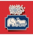 Donkey and elephant of vote inside frame design vector image vector image