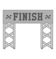 Finish race gate icon black monochrome style vector image vector image