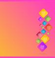 flat rhombus info-graphic vector image vector image