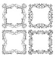 floral filigree frames set decorative square vector image vector image
