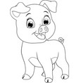funny cheerful piggy vector image vector image