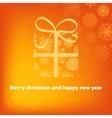 Gift box on orange background EPS8 vector image vector image