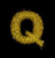 gold dust font type letter q vector image vector image
