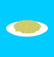 green buckwheat cereal in plate isolated healthy vector image vector image