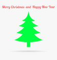 gren christmas tree flat icon vector image vector image
