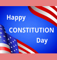happy constitution day vector image vector image