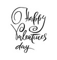 happy valentines day handdrawn calligraphy poster vector image
