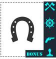 horseshoe icon flat vector image vector image