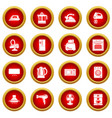 house appliance icons set simple style vector image vector image