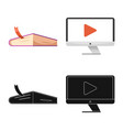 isolated object of education and learning icon vector image