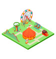 isometric amusement park vector image