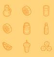 lemonade outline isometric set vector image