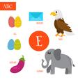 letter e cartoon alphabet for children egg