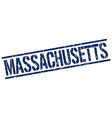Massachusetts blue square stamp vector image vector image