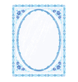 Mirror frame faience vector image vector image