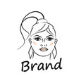 modern beauty and face a beautiful woman logo vector image vector image