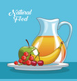 naural food cartoons vector image