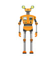 orange robot with big artificial eyes isolated on vector image vector image