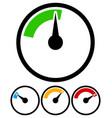 pressure gauge dial template vector image vector image